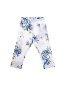 Monnalisa - White St. Fiori Cruise leggings