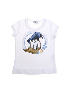 Monnalisa - White St. Donald' Duck T-shirt