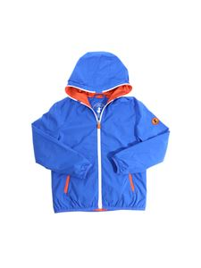 Save the duck - Electric blue hooded jacket