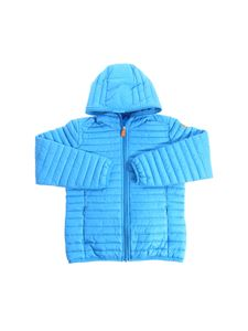 Save the duck - Turquoise hooded padded jacket