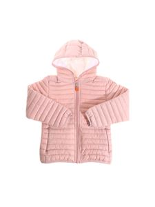 Save the duck - Pink hooded padded jacket