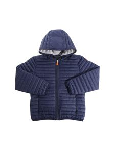 Save the duck - Blue hooded padded jacket