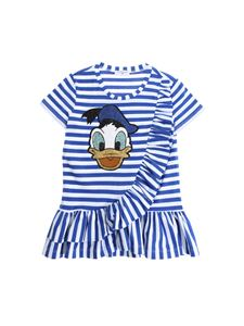 Monnalisa - Donald Duck striped T-shirt