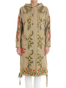Red Valentino - Beige overcoat with muticolor pattern