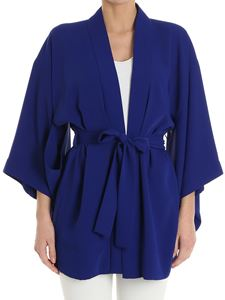 Parosh - Electric blue kimono with cut-out on the sleeves