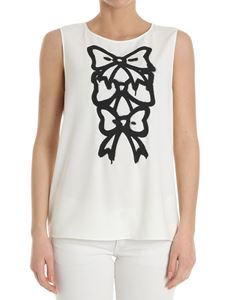 Moschino Boutique - White top with bows print