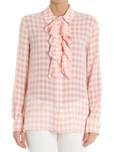 Moschino Boutique - Pink and white check shirt