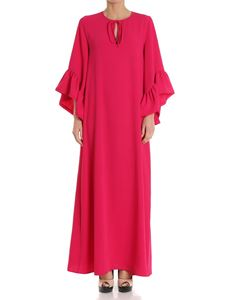Parosh - Fuchsia dress with ruffles on the sleeves