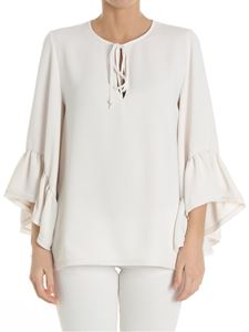 Parosh - White top with flared sleeves