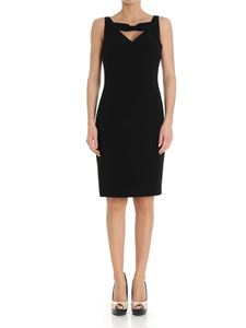 Moschino Boutique - Black sheath dress with bow on the neckline