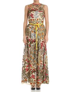 Red Valentino - Multicolor embroidered tulle dress