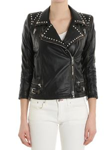 S.W.O.R.D. - Black leather studded jacket
