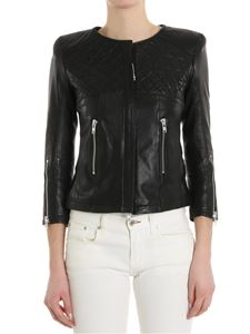 S.W.O.R.D. - Leather jacket with quilted detail
