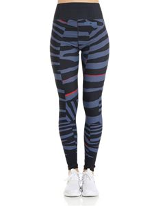 Adidas by Stella McCartney - Blue striped leggings