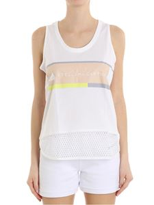 Adidas by Stella McCartney - Top bianco con stampa logo