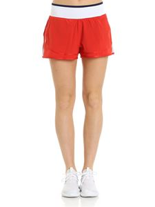 Adidas by Stella McCartney - Two in one red sport shorts