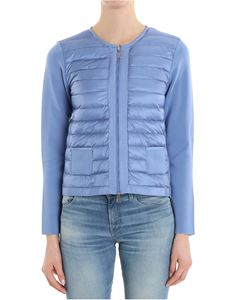Moncler - Light blue quilted cardigan