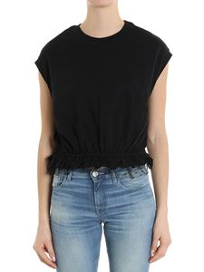Red Valentino - Black top with tulle insert on the bottom