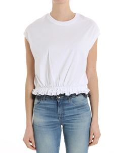 Red Valentino - White top with tulle insert on the bottom
