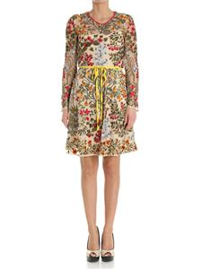 Red Valentino - Tulle dress with multicolor embroideries