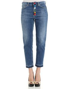 Dondup - Blue Koons jeans with jeweled buttons