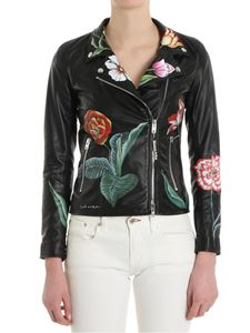 S.W.O.R.D. - Black Hand-painted leather jacket