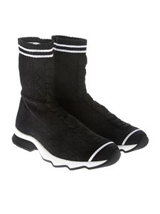 Fendi - Black knitted ankle boots