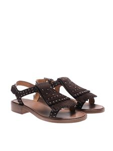Church's - Brown suede studded sandals