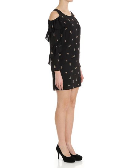 Black open-back dress with floral pattern Patrizia Pepe Cheap Sale Pay With Visa Inexpensive Online Choice Online bSH8WFR