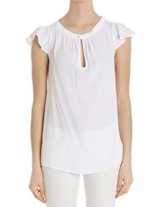 Trussardi Jeans - White top with ruffles on the sleeves