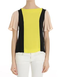 Trussardi Jeans - Yellow pink and black top