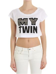 MY TWIN Twinset - My Twin white crop top