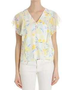 Trussardi Jeans - Yellow floral patterned blouse