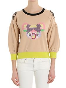 Trussardi Jeans - Pink sweatshirt with front embroidery