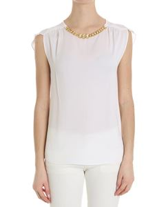 Michael Kors - White top with golden chain insert