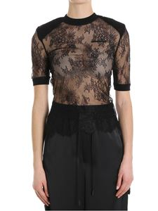 Off-White - Black lace top