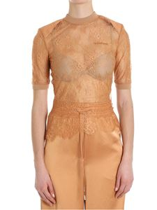 Off-White - Peach colored lace top