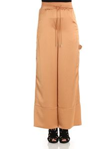 Off-White - Pink satin trousers