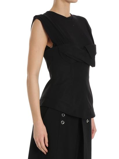 Clearance Online Official Site Black top with bodice Alexander Wang Buy Cheap With Mastercard Cheap Latest Clearance Authentic 3vIwmG2