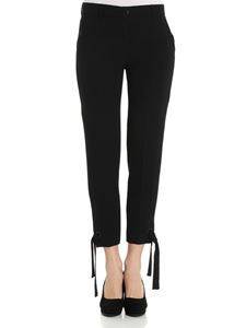 Iceberg - Black trousers with ribbon on the bottom