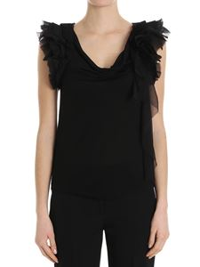 Givenchy - Top con rouches nero