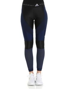Adidas by Stella McCartney - Black and blue Climalite leggings