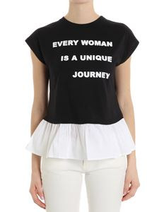 Trussardi Jeans - Black Every woman top with white flounce