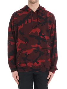 Valentino - Camouflage red hoodie