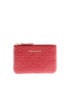 Comme Des Garçons Wallet - Red embossed leather purse