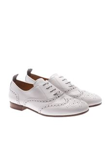 Church's - White leather Oxford shoes