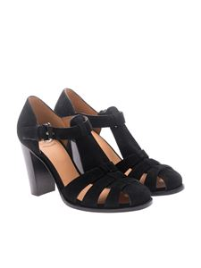 Church's - Black suede pumps