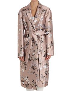 Rochas - Floral printed overcoat