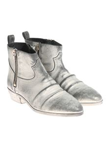 Golden Goose Deluxe Brand - Silver leather Viand ankle boots