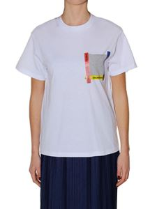 Golden Goose Deluxe Brand - White t-shirt with gray pocket